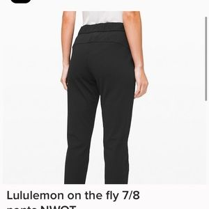 Lululemon on the fly 7/8 luxtreme pants size 4